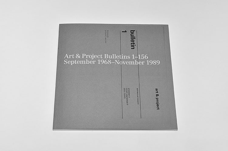 Art & Project Bulletins 1-156 September 1968 – November 1989