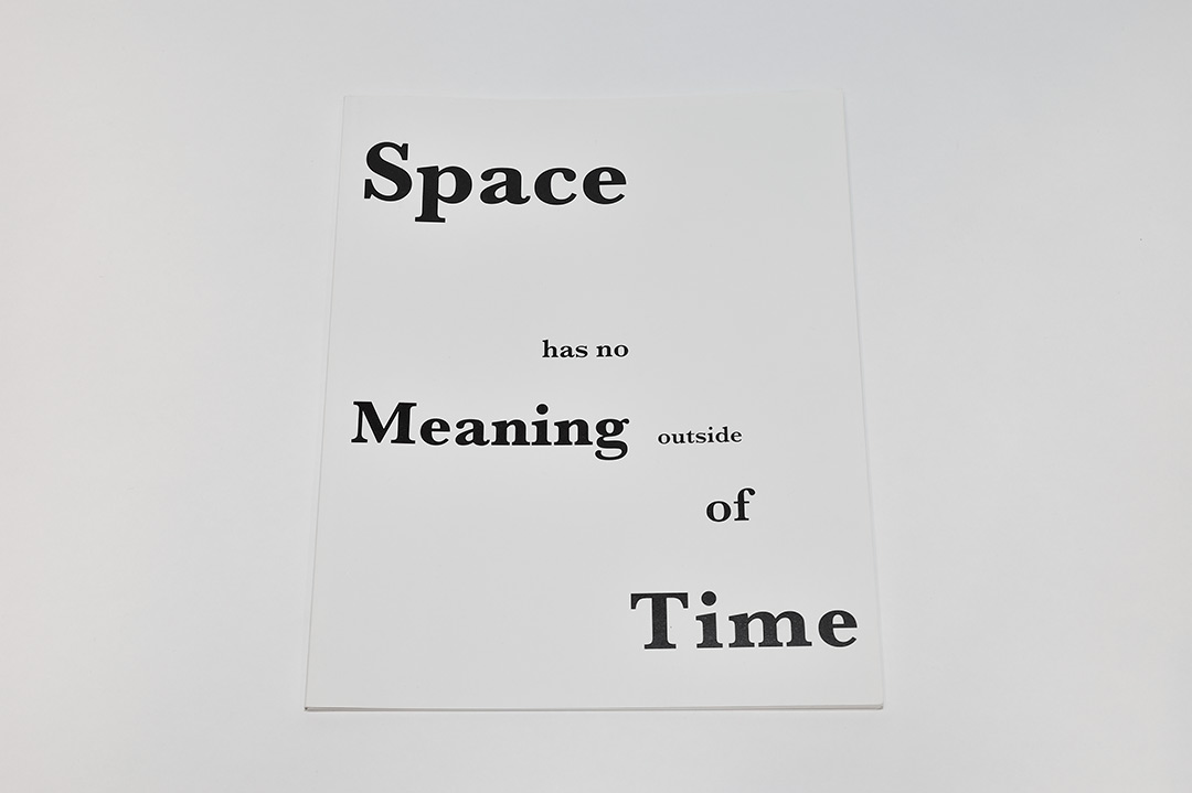 Koenraad Dedobbeleer, Space has no meaning outside of time